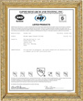 UPC INTERTEK Certification