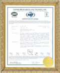 UPC INTERTEK Certification 2